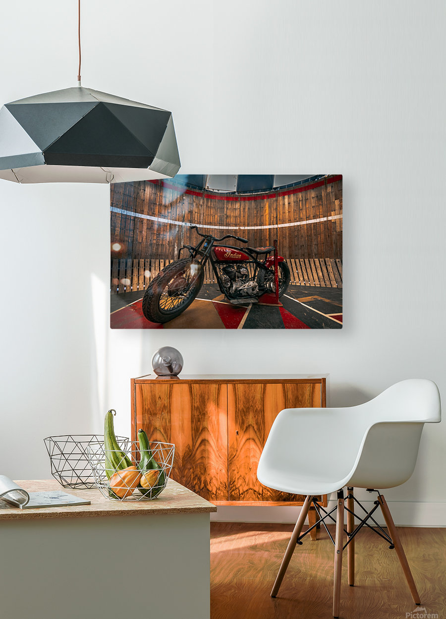 1927_Indian_Scout_Motorcycle  HD Metal print with Floating Frame on Back