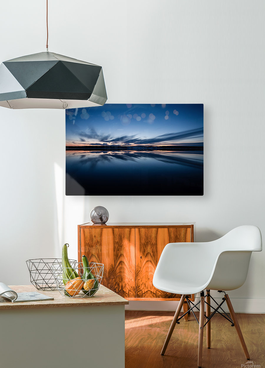 Feather skies  HD Metal print with Floating Frame on Back