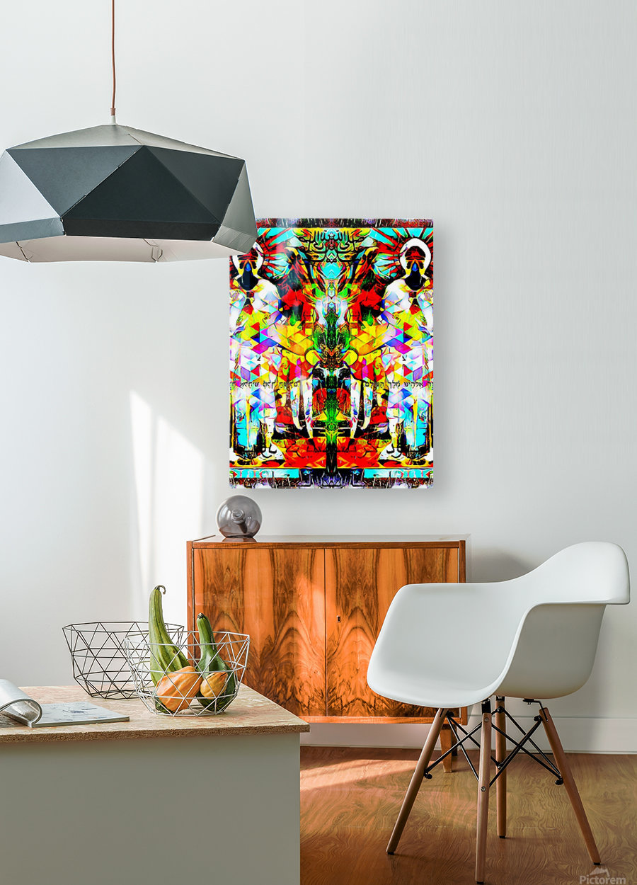 astrally activated  HD Metal print with Floating Frame on Back