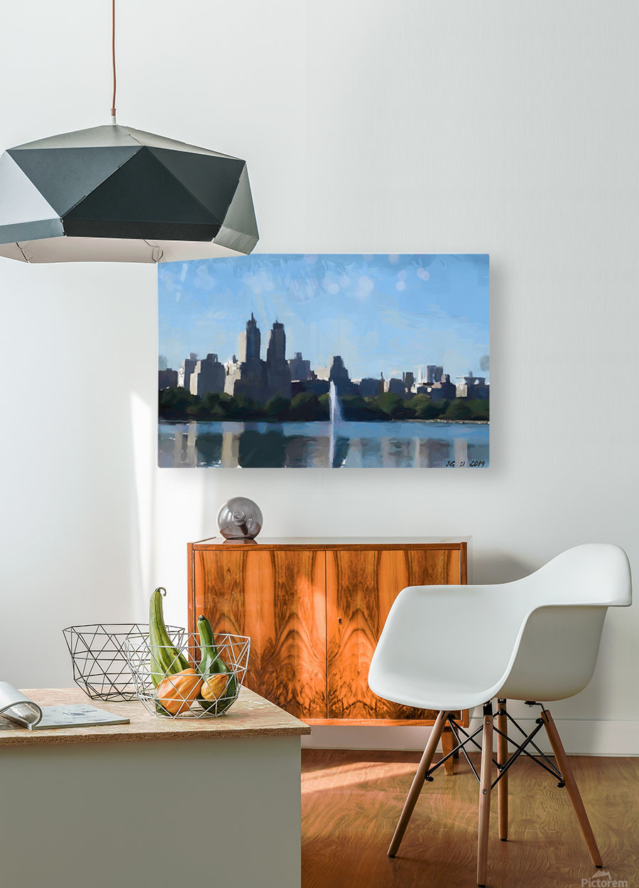 NY_CENTRAL PARK_View 070  HD Metal print with Floating Frame on Back