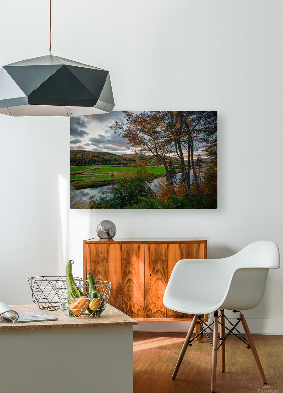 Serene Valley  HD Metal print with Floating Frame on Back