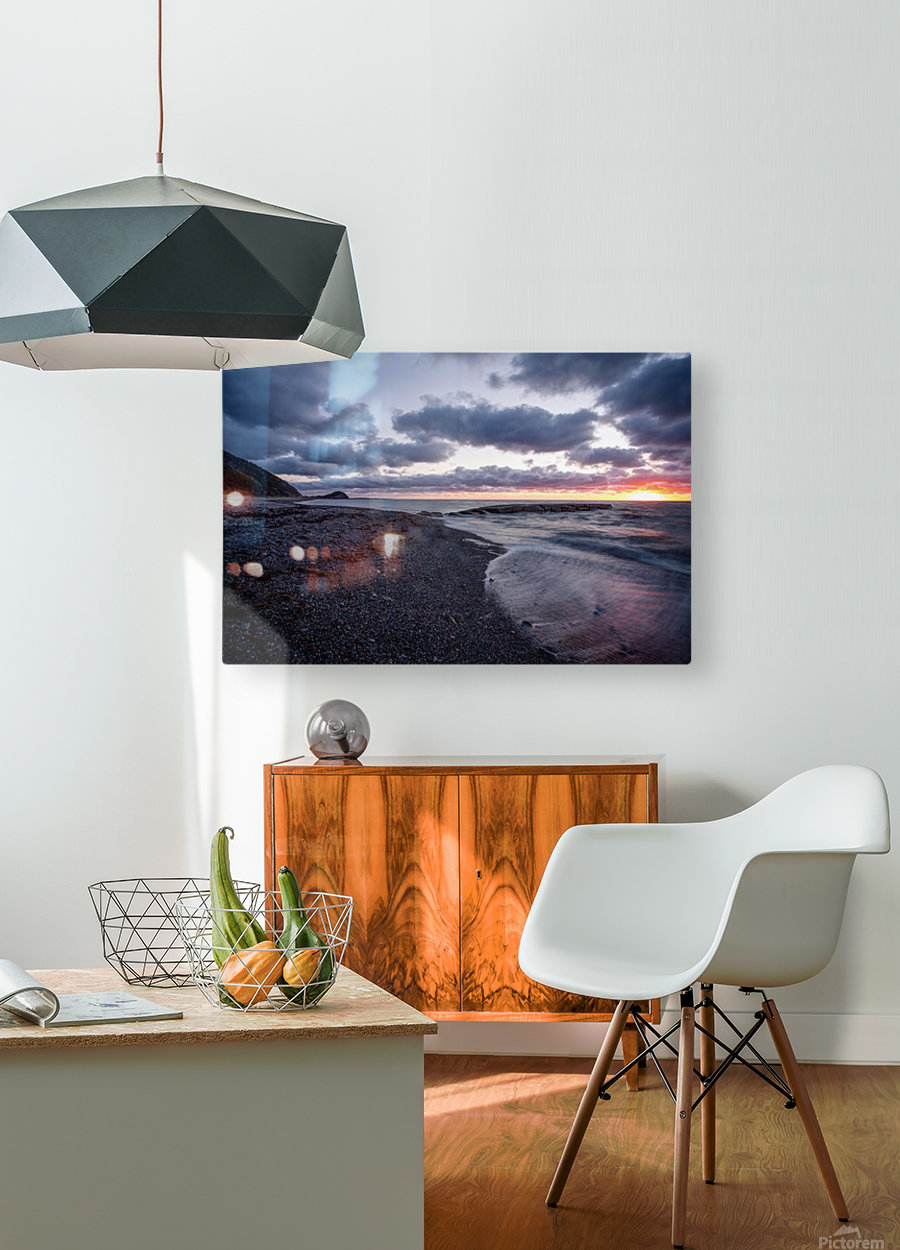 Washed by the sea  HD Metal print with Floating Frame on Back
