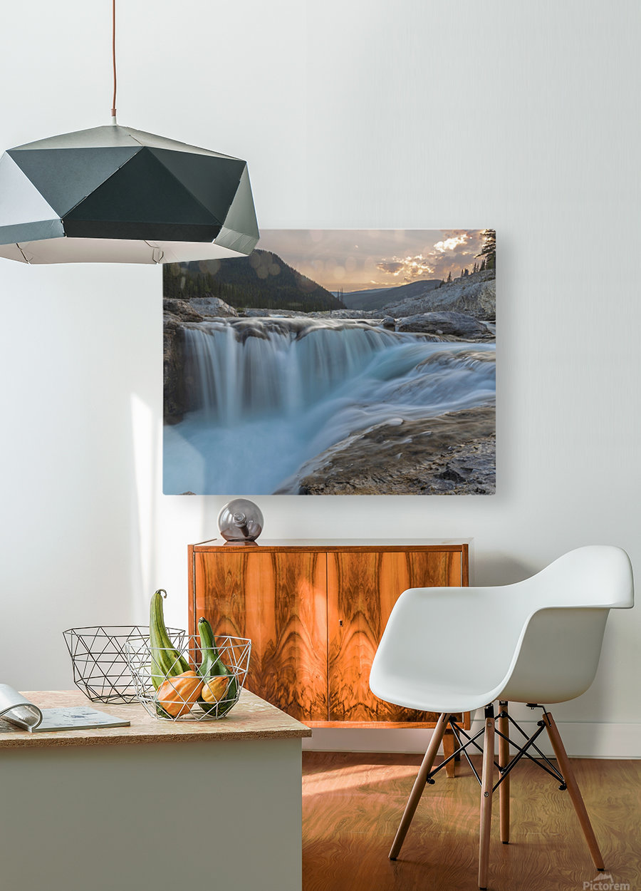 Elbow falls  HD Metal print with Floating Frame on Back