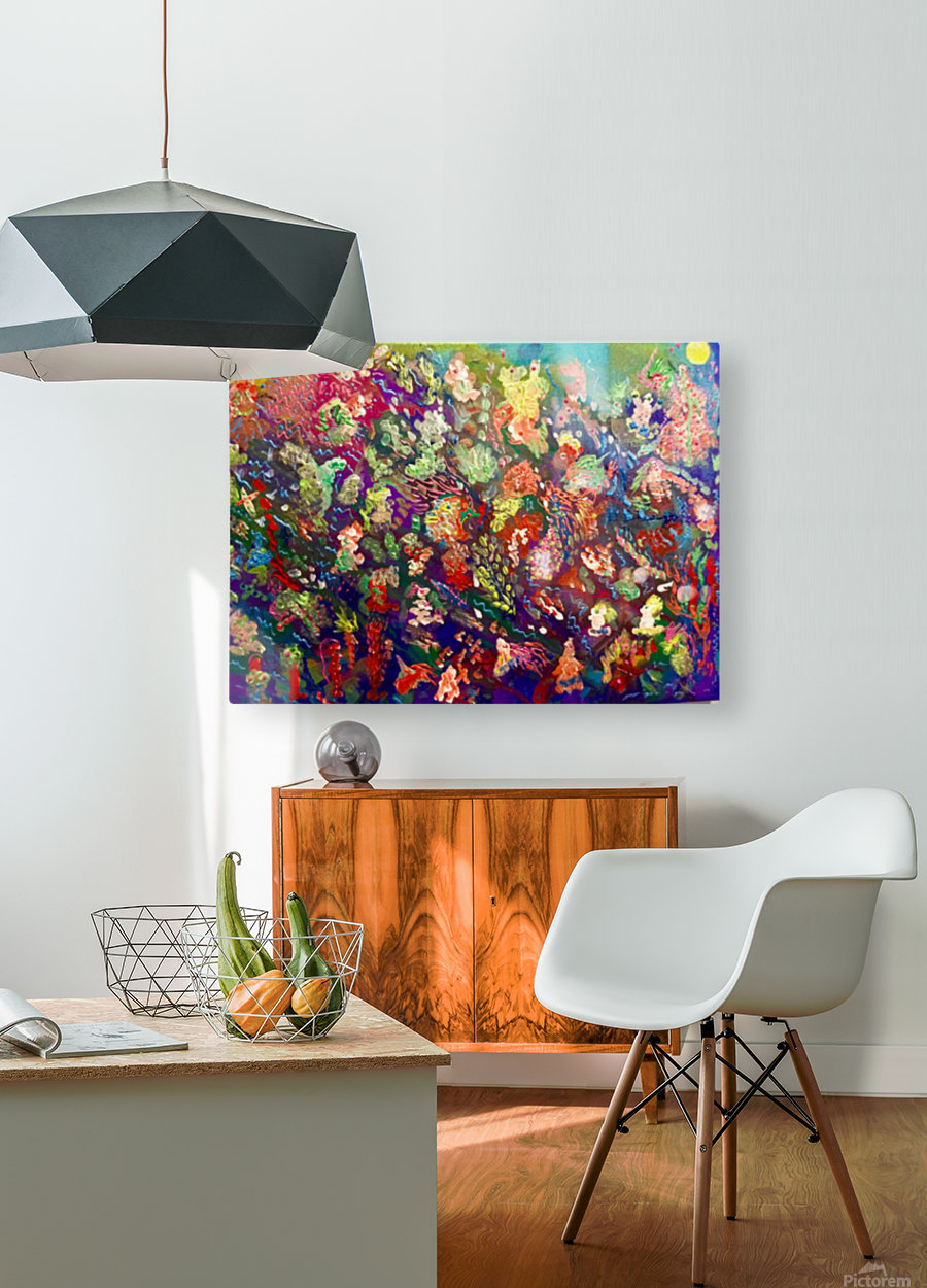 CORAL FANTASY  HD Metal print with Floating Frame on Back