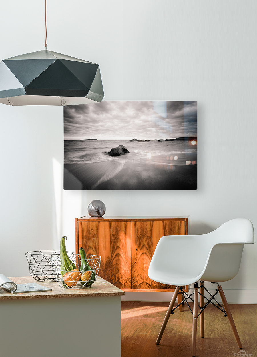Peaceful Shore  HD Metal print with Floating Frame on Back