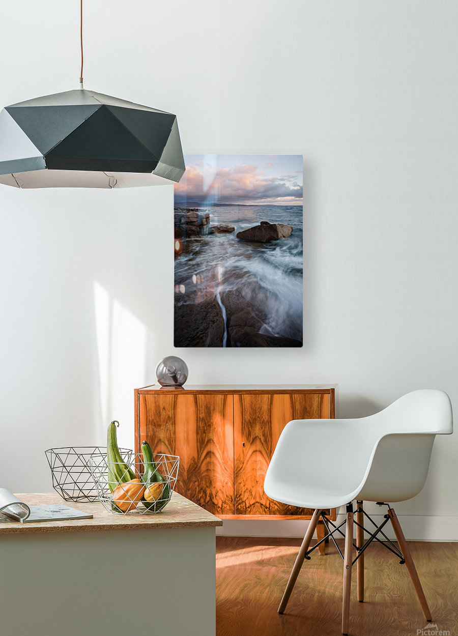 Rift  HD Metal print with Floating Frame on Back