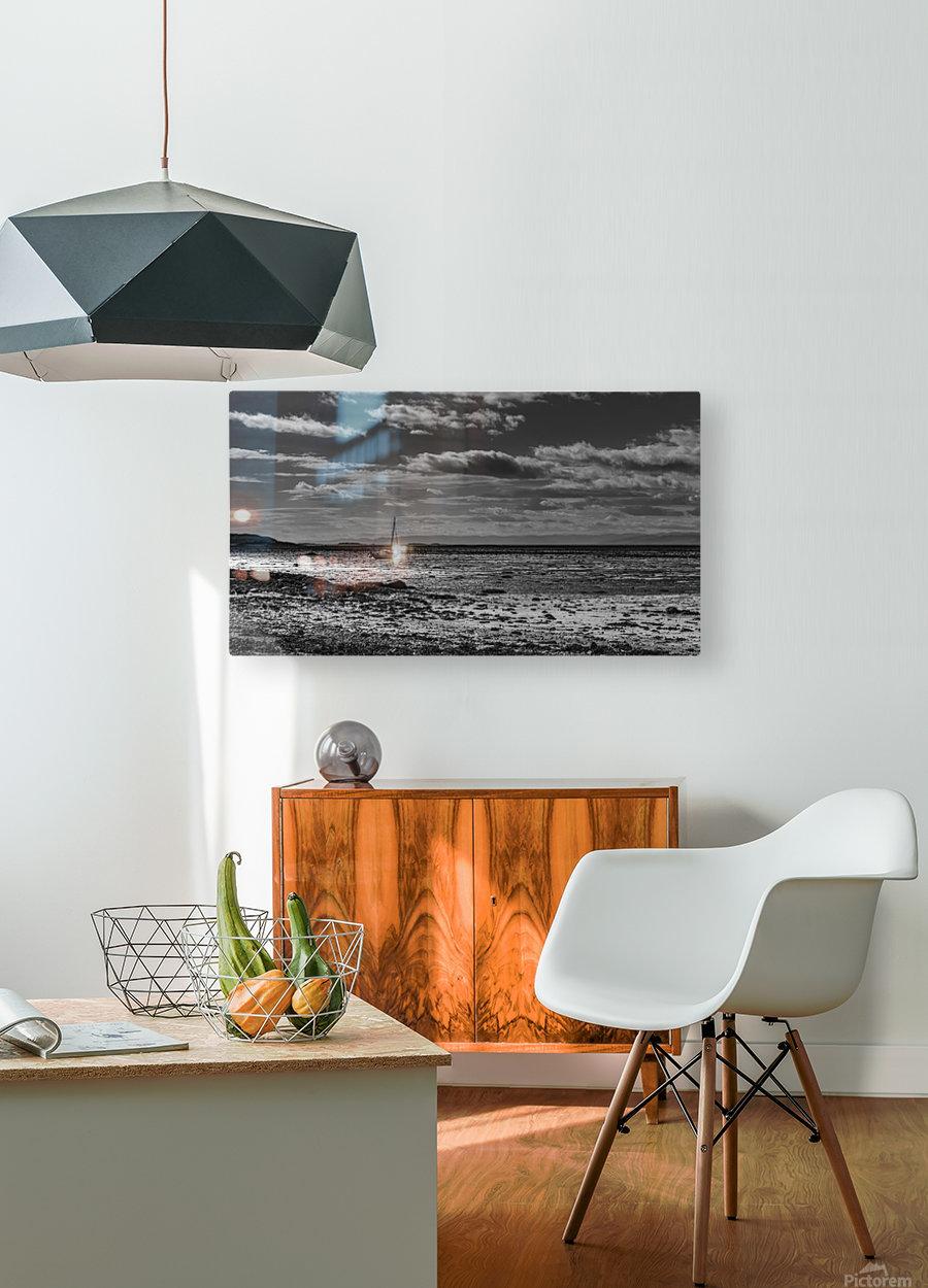 Autumn loneliness  Impression métal HD avec cadre flottant sur le dos