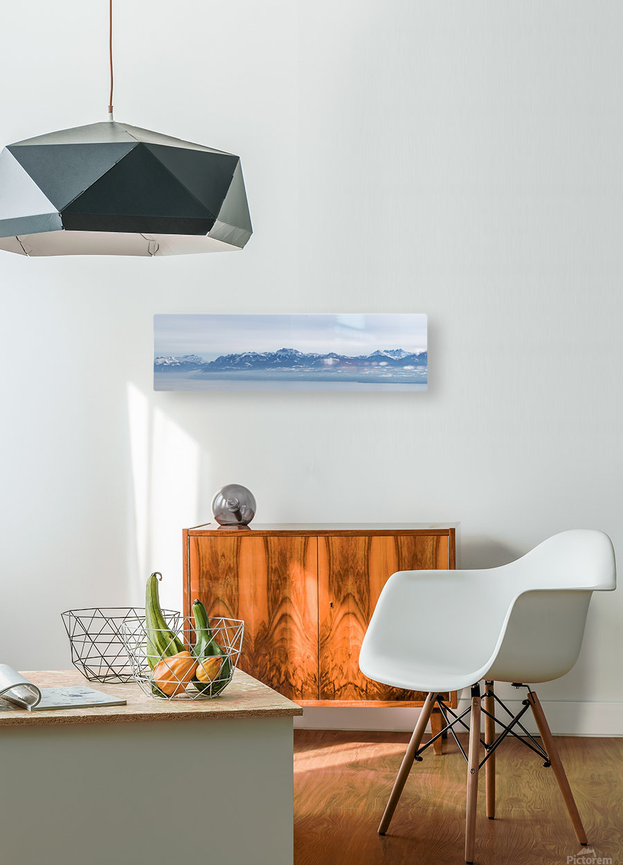 Lake Geneva and Alps  HD Metal print with Floating Frame on Back