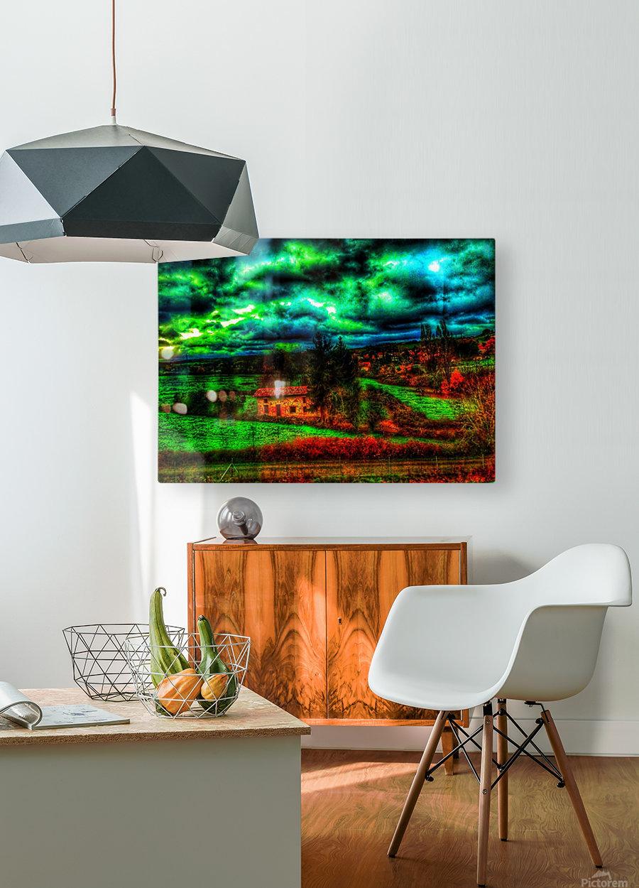 Paris Lyon  HD Metal print with Floating Frame on Back