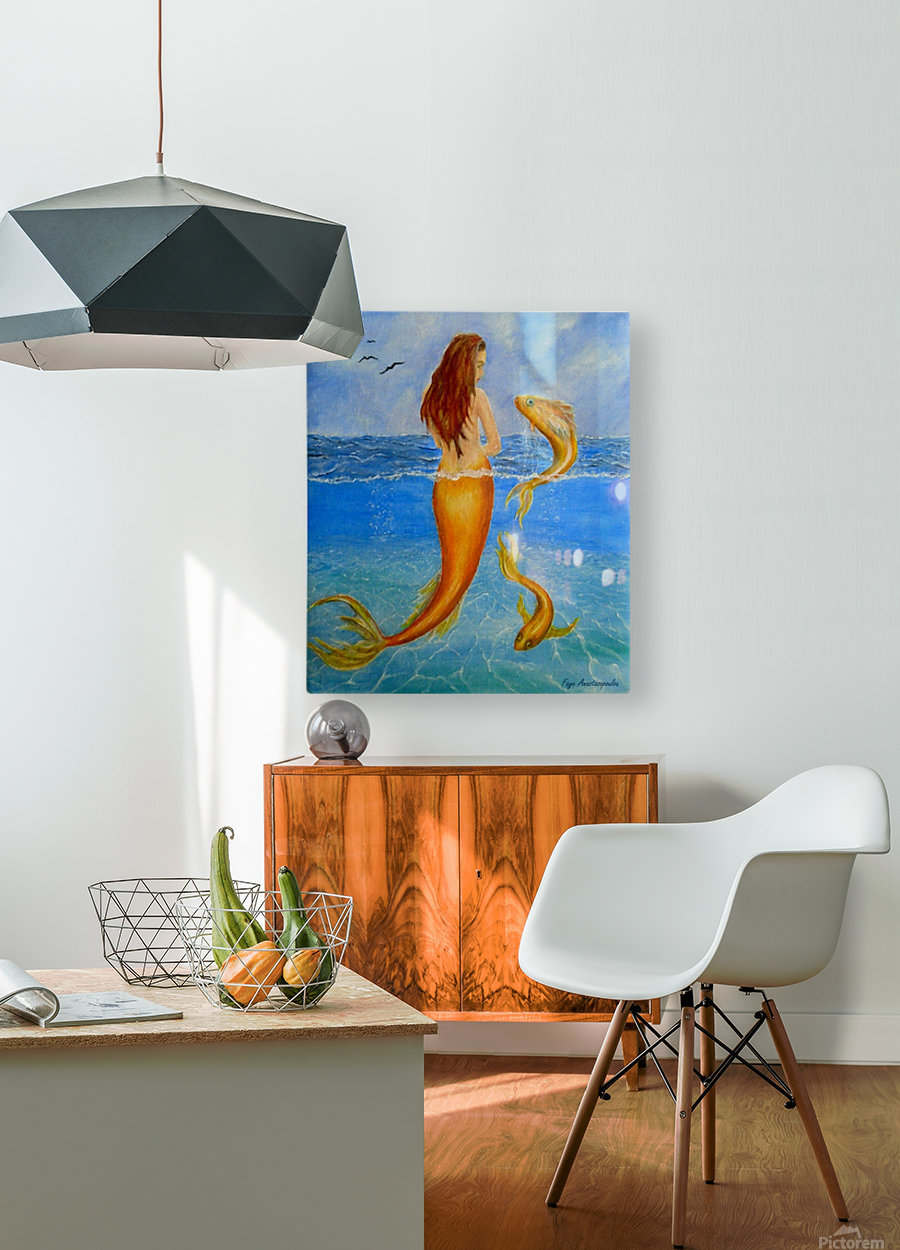The Sea Nymph  HD Metal print with Floating Frame on Back