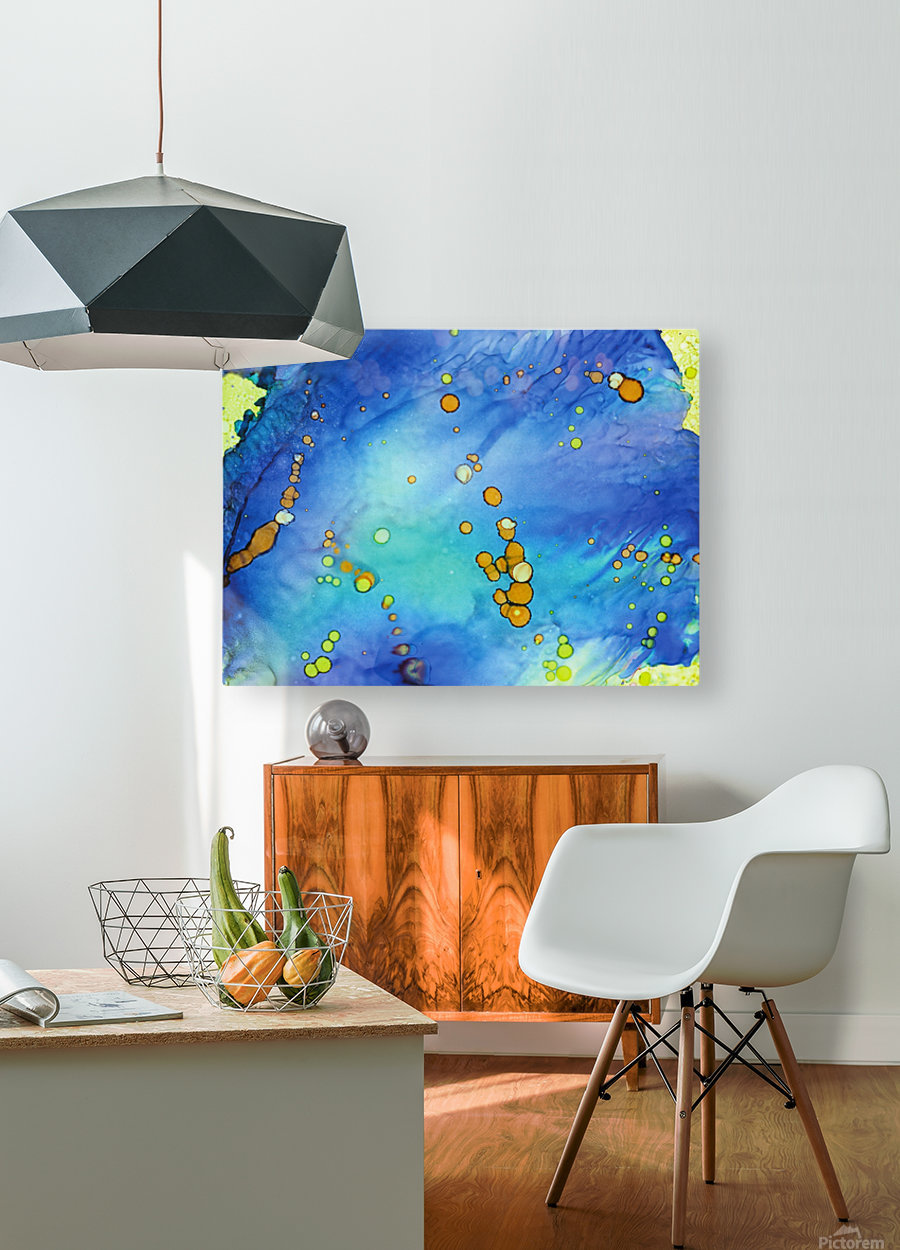 Bubbles in the Pool  HD Metal print with Floating Frame on Back