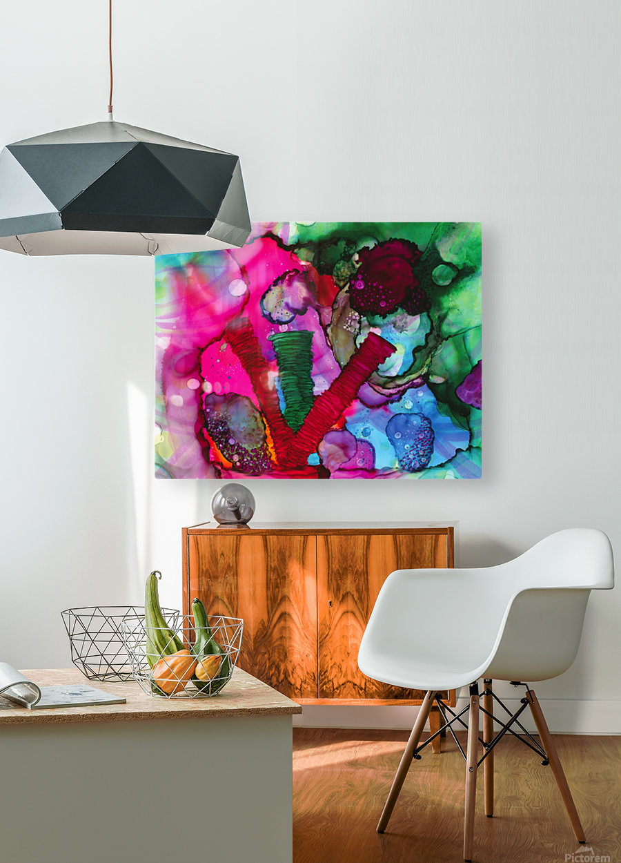 Otherworldly Sea  HD Metal print with Floating Frame on Back