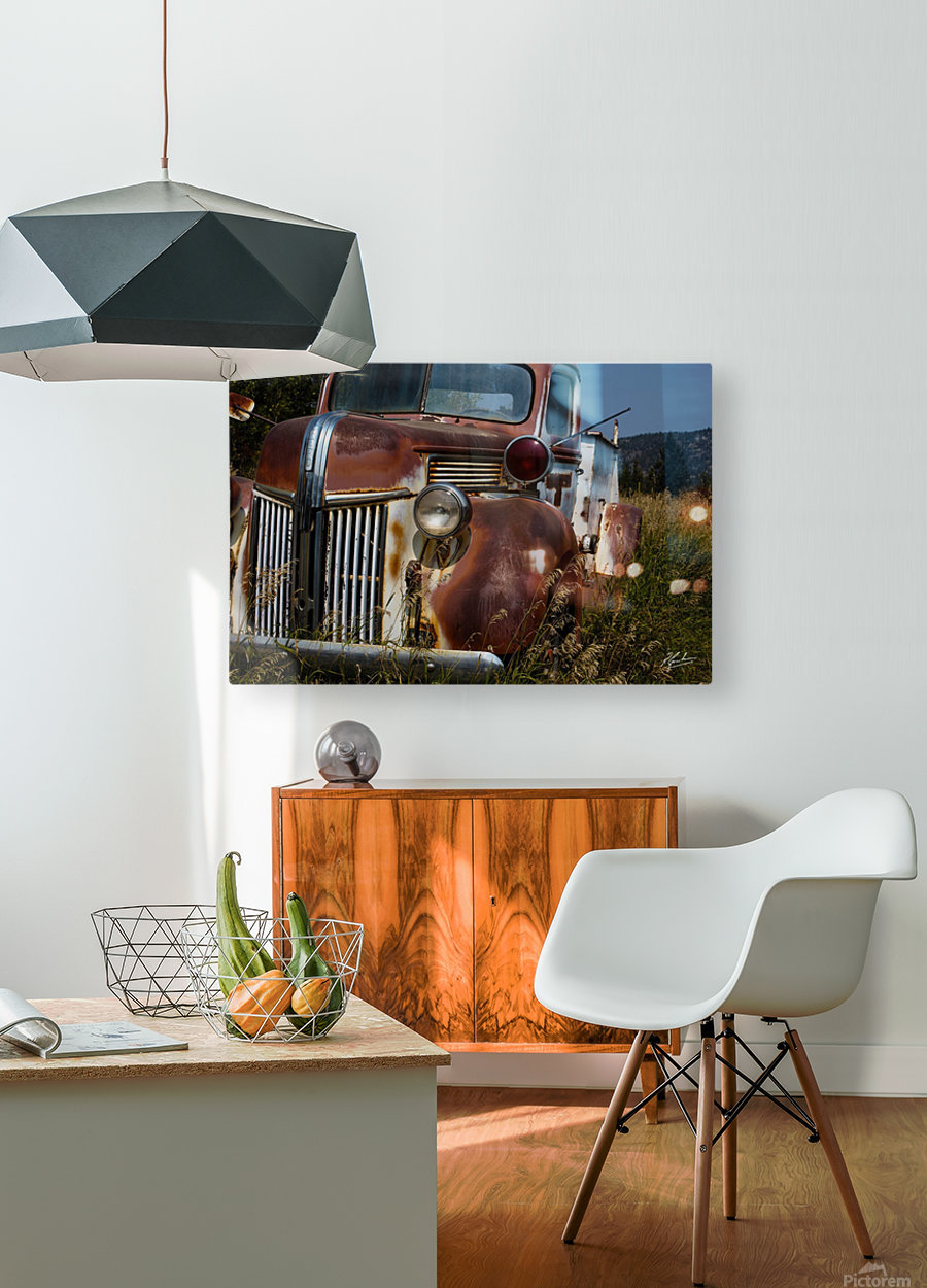 Ford Truck   HD Metal print with Floating Frame on Back
