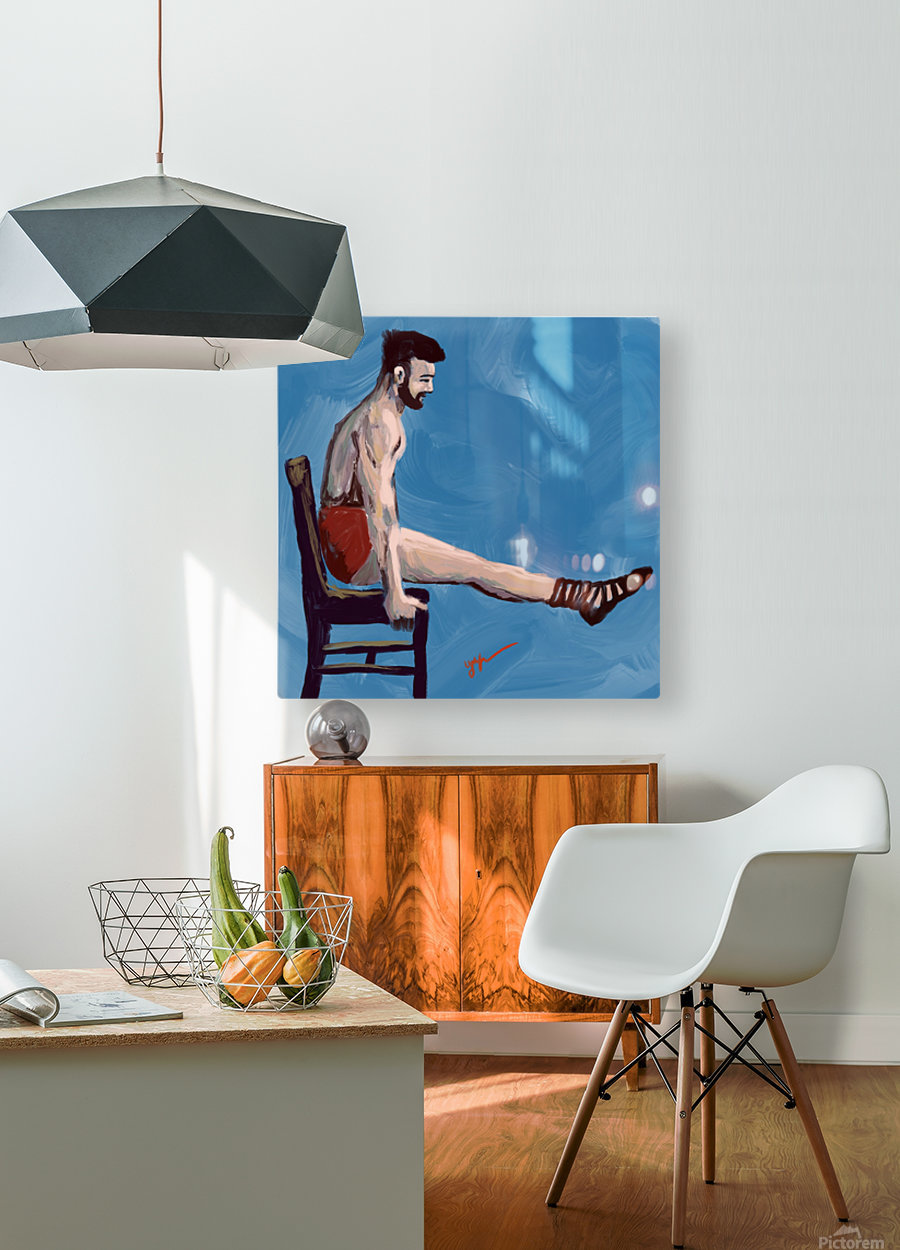 Body Strength  HD Metal print with Floating Frame on Back