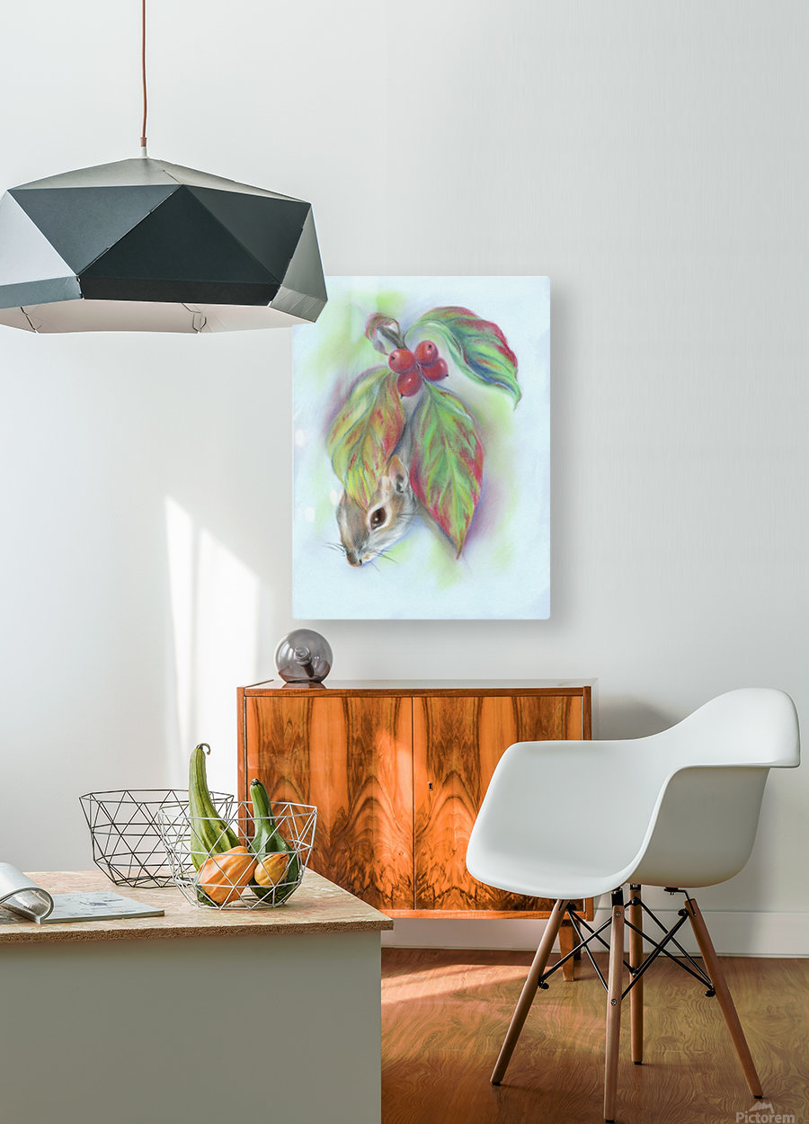 Squirrel in the Autumn Dogwood  HD Metal print with Floating Frame on Back