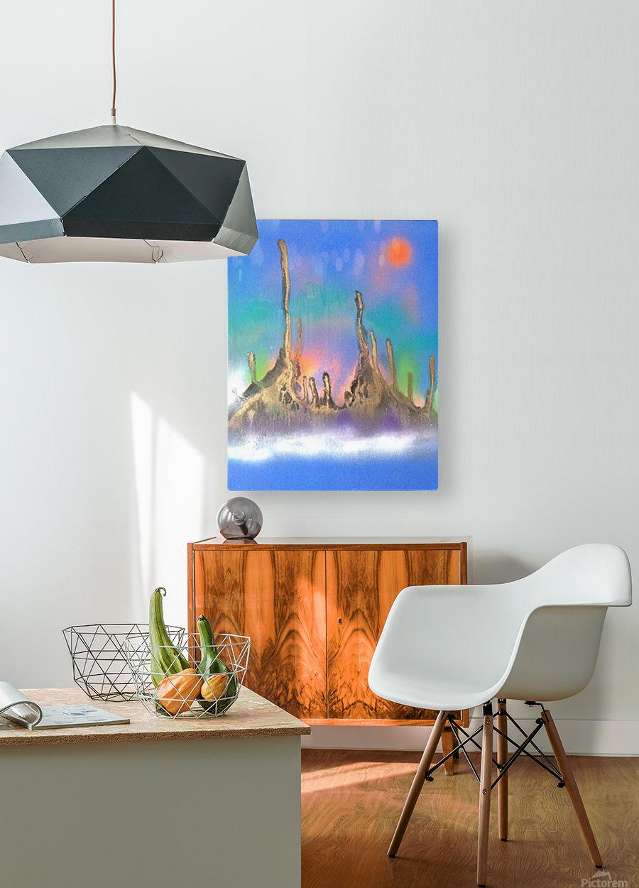 safty  HD Metal print with Floating Frame on Back