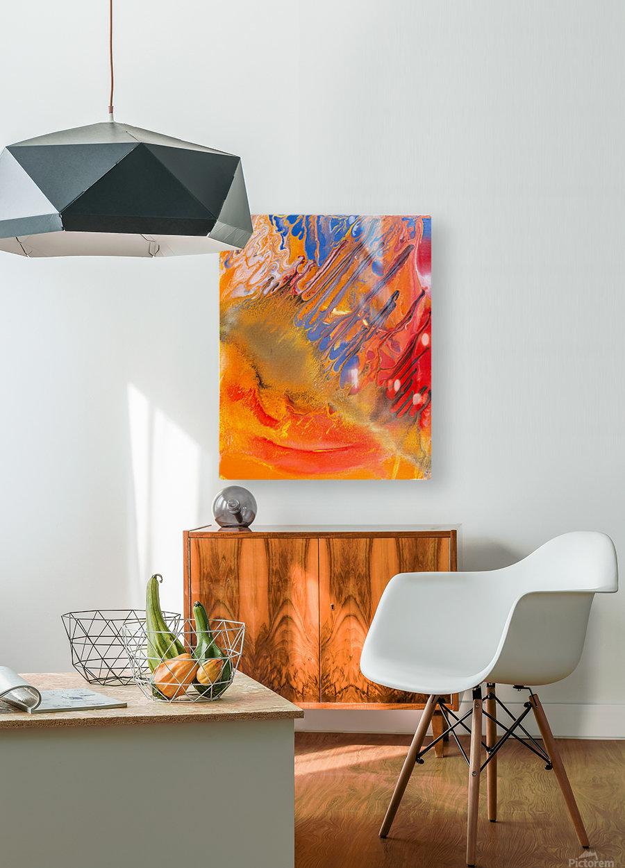METEORITE  HD Metal print with Floating Frame on Back