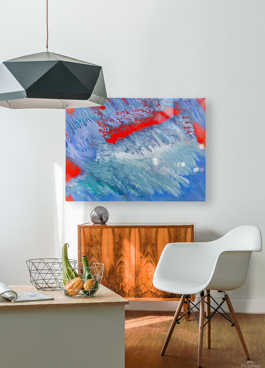 AGAINST THE REEF  HD Metal print with Floating Frame on Back