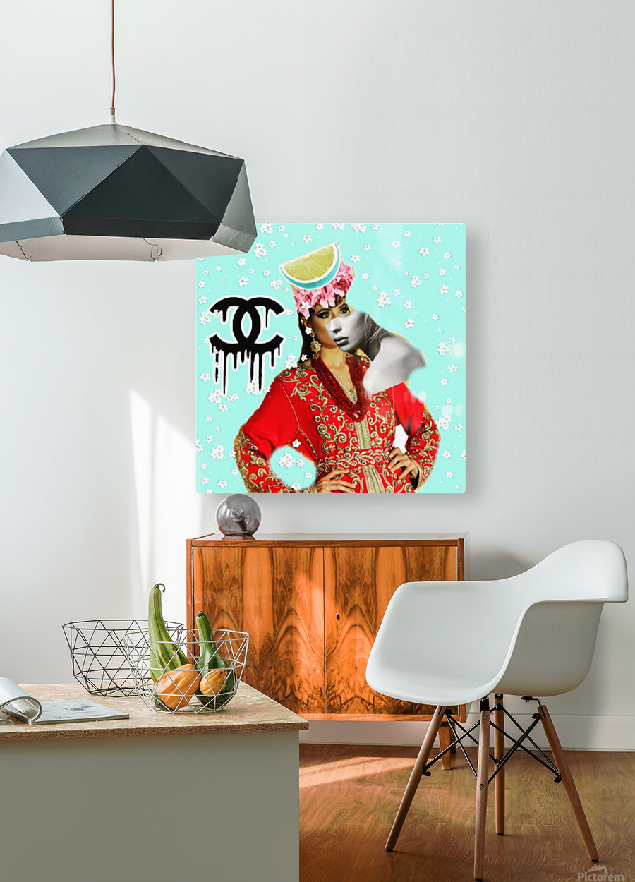 3  HD Metal print with Floating Frame on Back