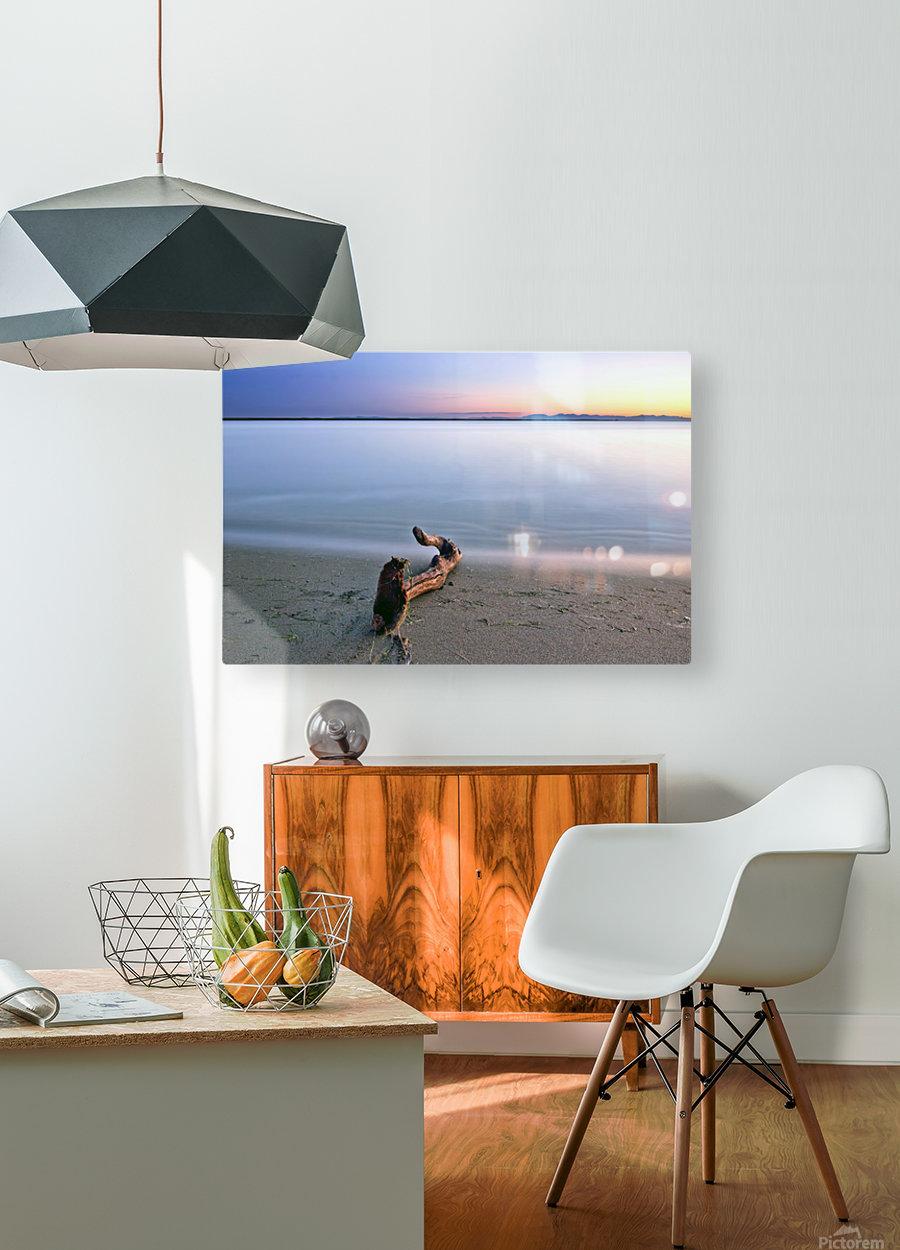 Serene Sunset  HD Metal print with Floating Frame on Back