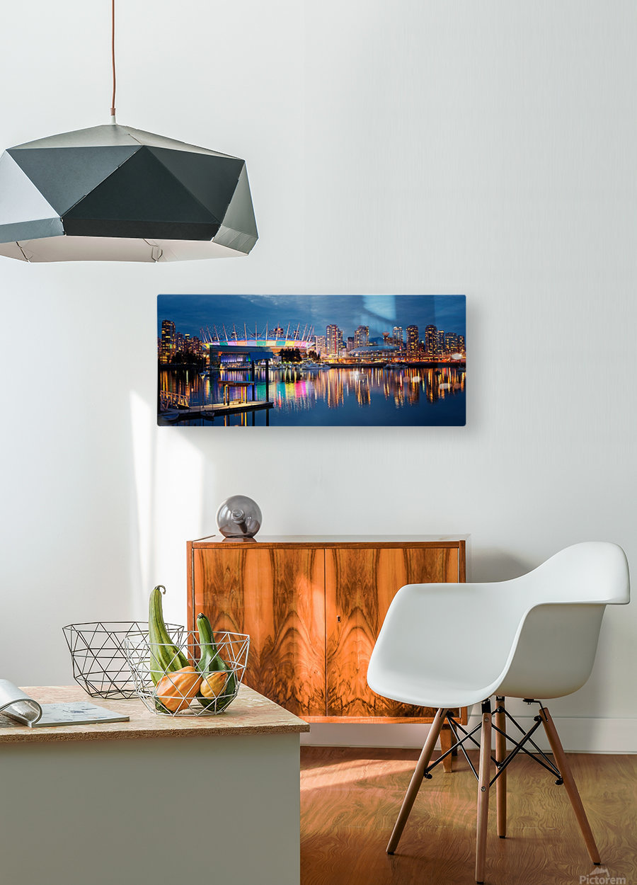 The Arena  HD Metal print with Floating Frame on Back
