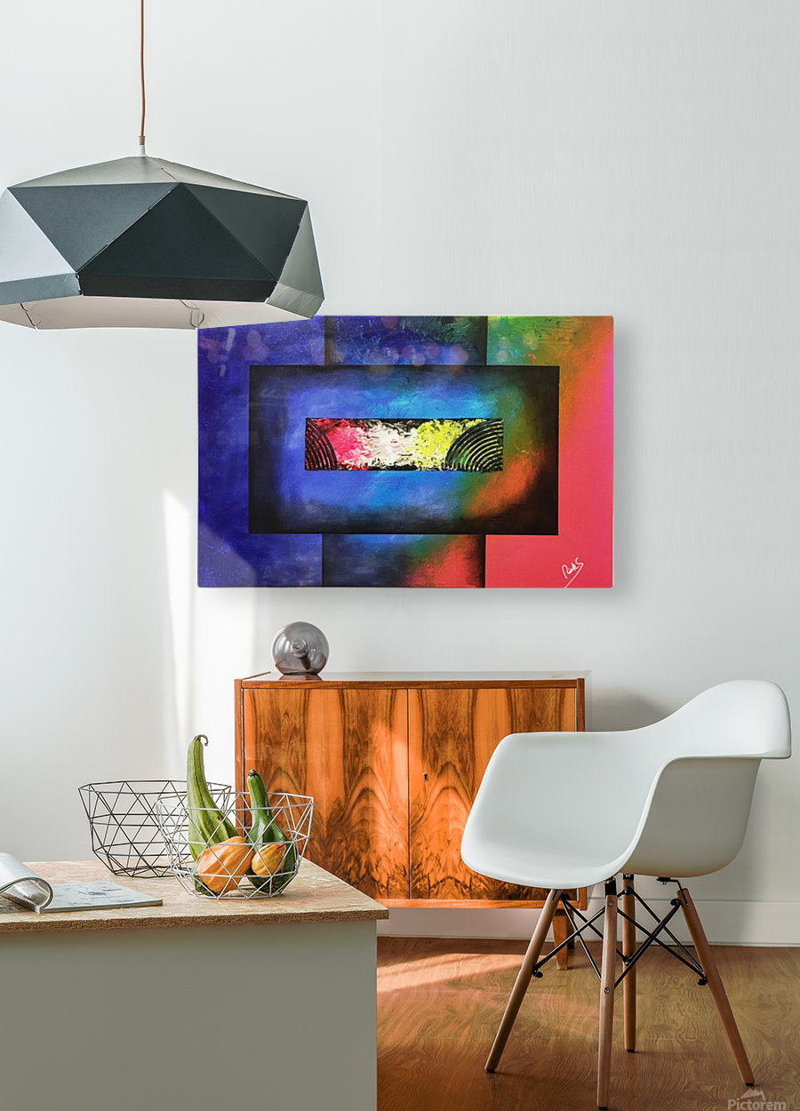 WINDOW OF PERCEPTION  HD Metal print with Floating Frame on Back