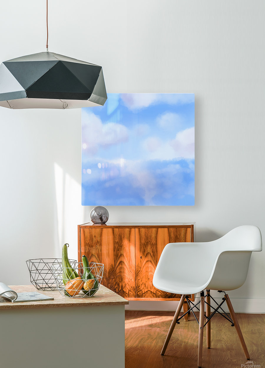 Happy Clouds - Original Artwork  HD Metal print with Floating Frame on Back