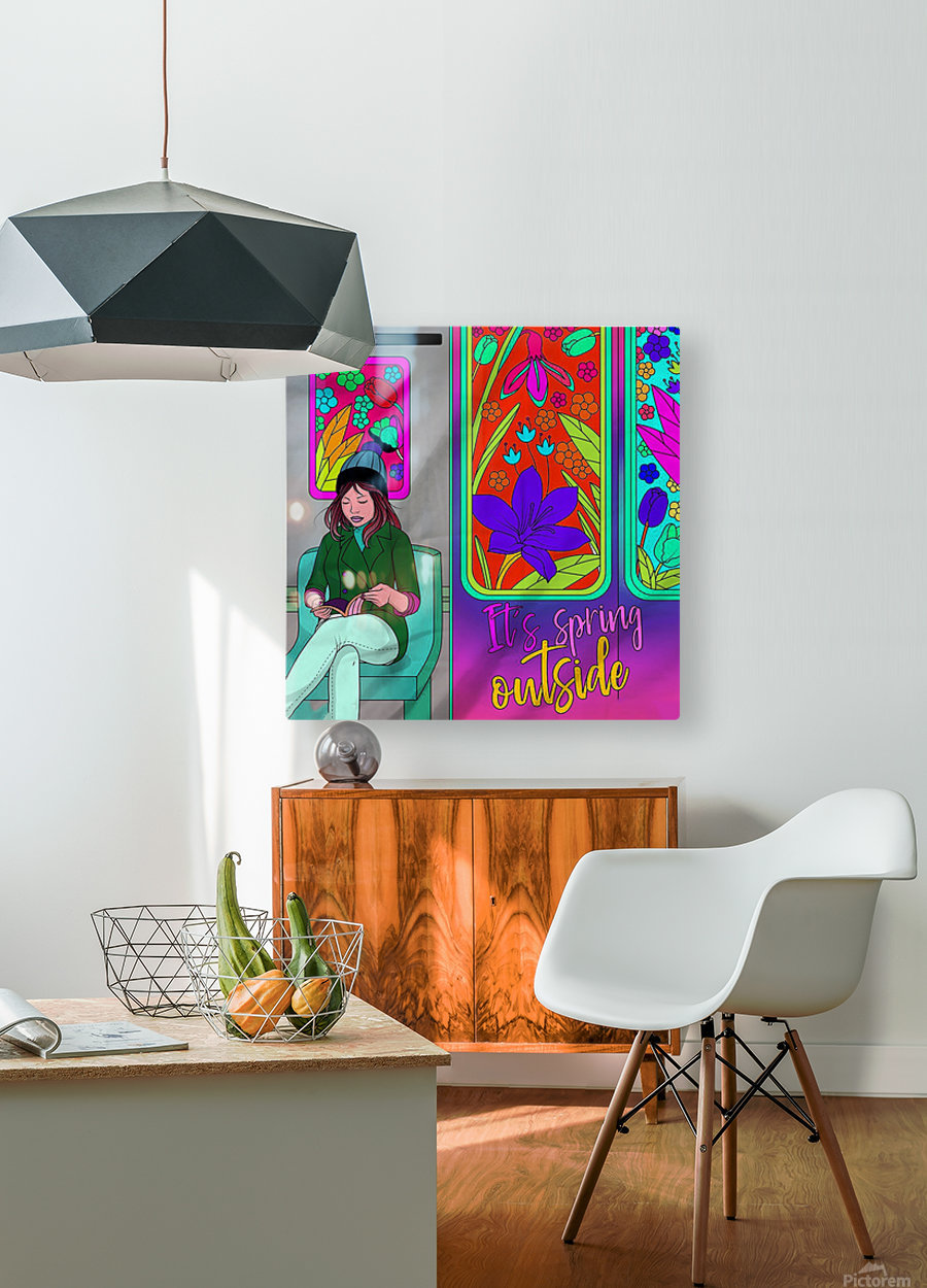 color therapy med  HD Metal print with Floating Frame on Back
