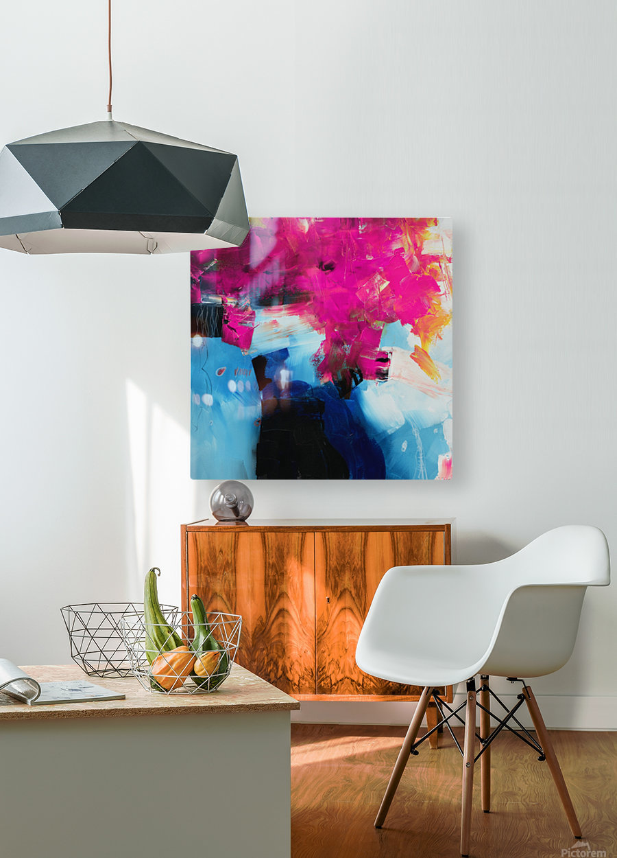Abstract 21  HD Metal print with Floating Frame on Back