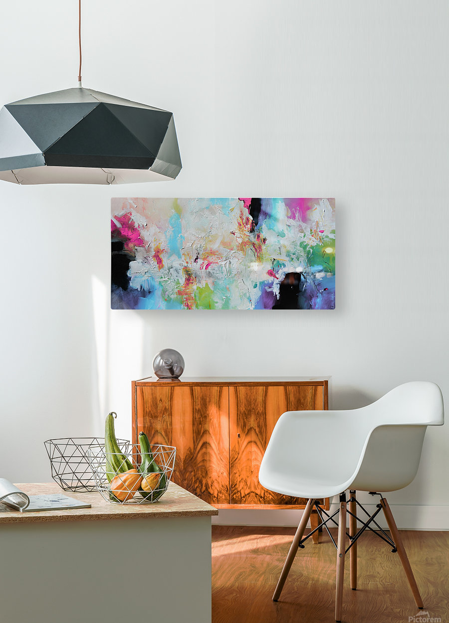 Abstract 39  HD Metal print with Floating Frame on Back