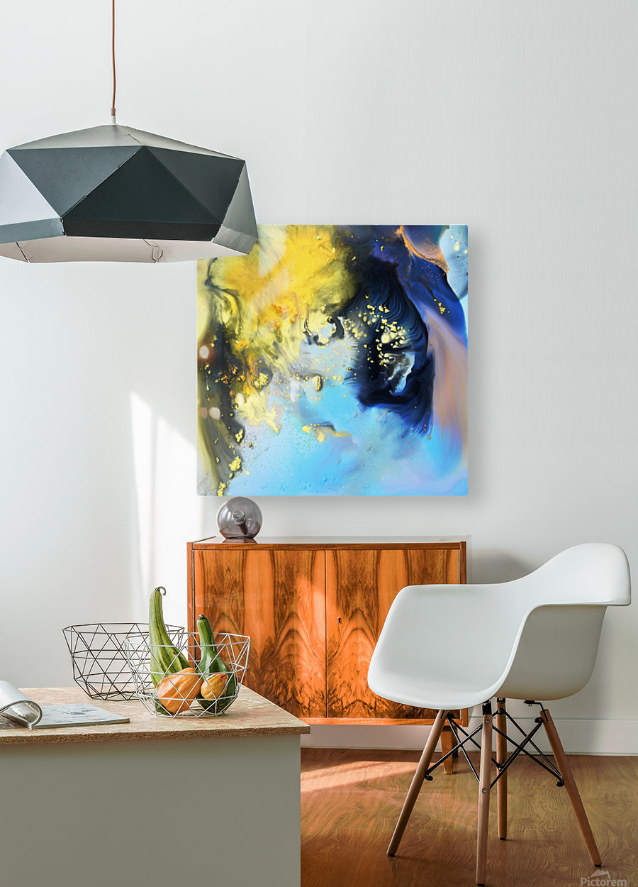 Liquid series 14  HD Metal print with Floating Frame on Back