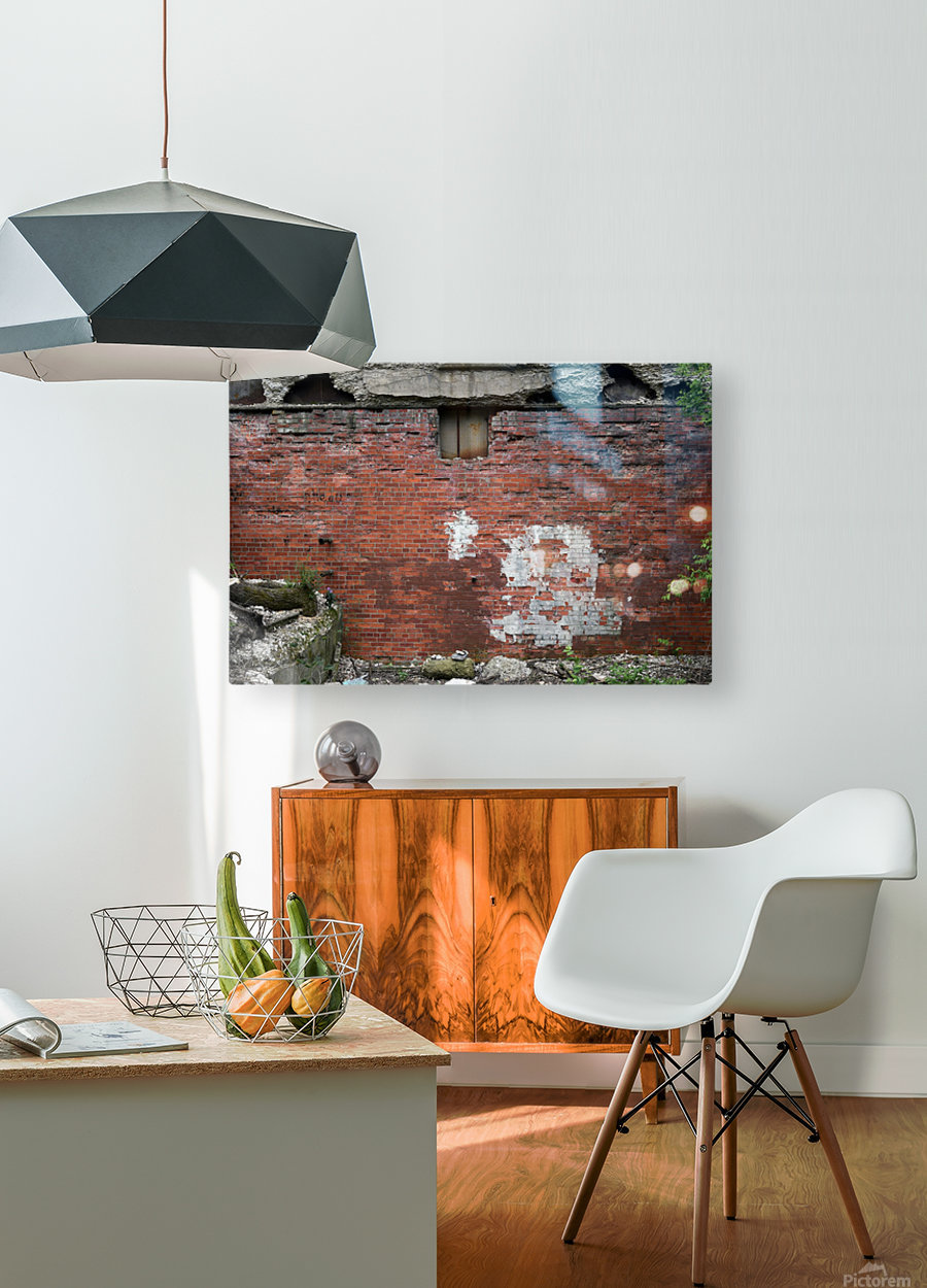 Another Brick in the Wall  HD Metal print with Floating Frame on Back
