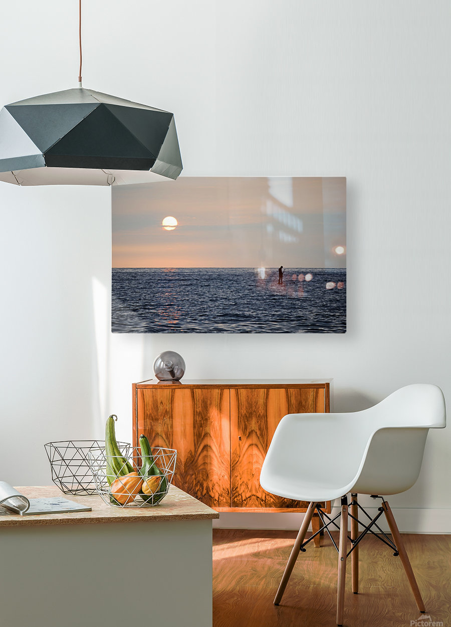 Sinking Sunset  HD Metal print with Floating Frame on Back