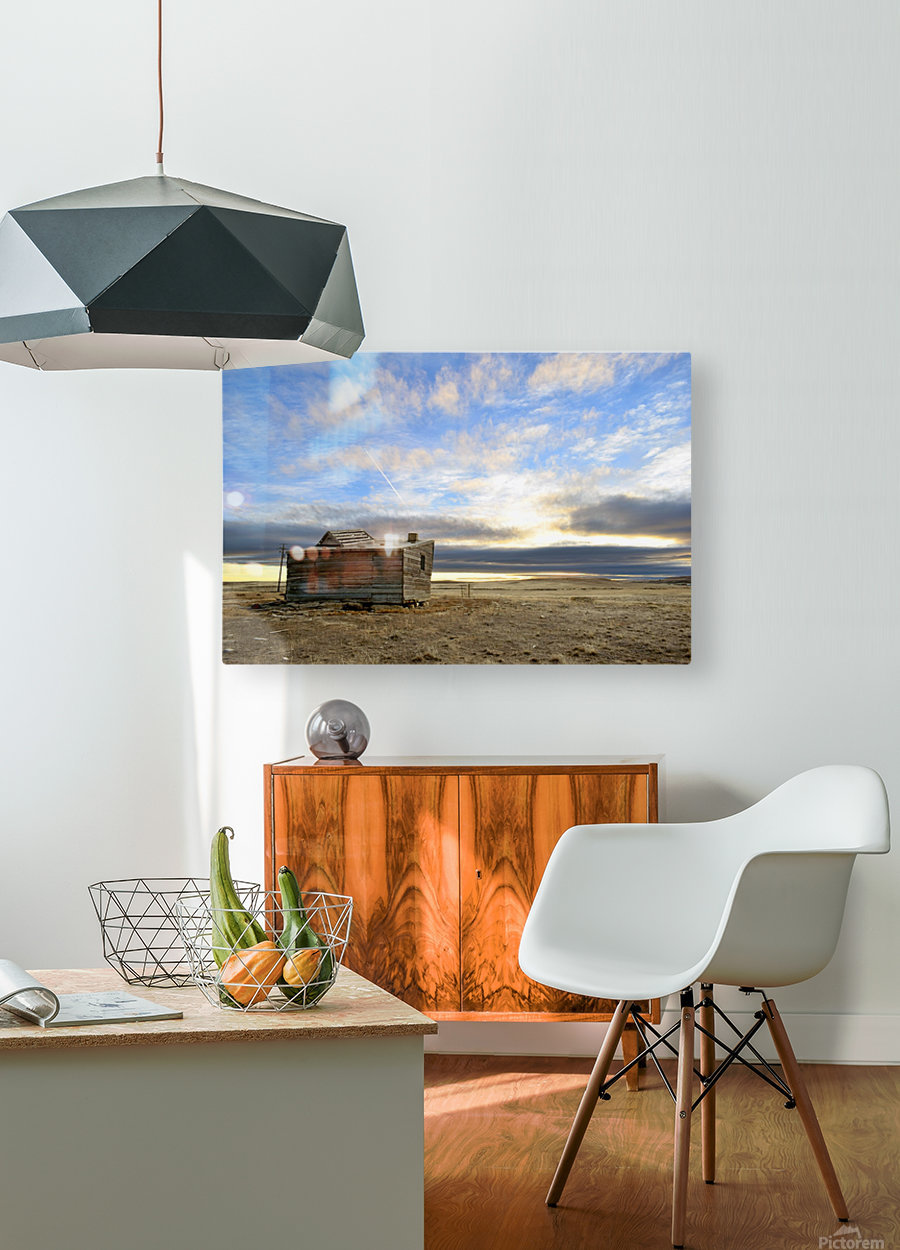 Ghost Town House  HD Metal print with Floating Frame on Back