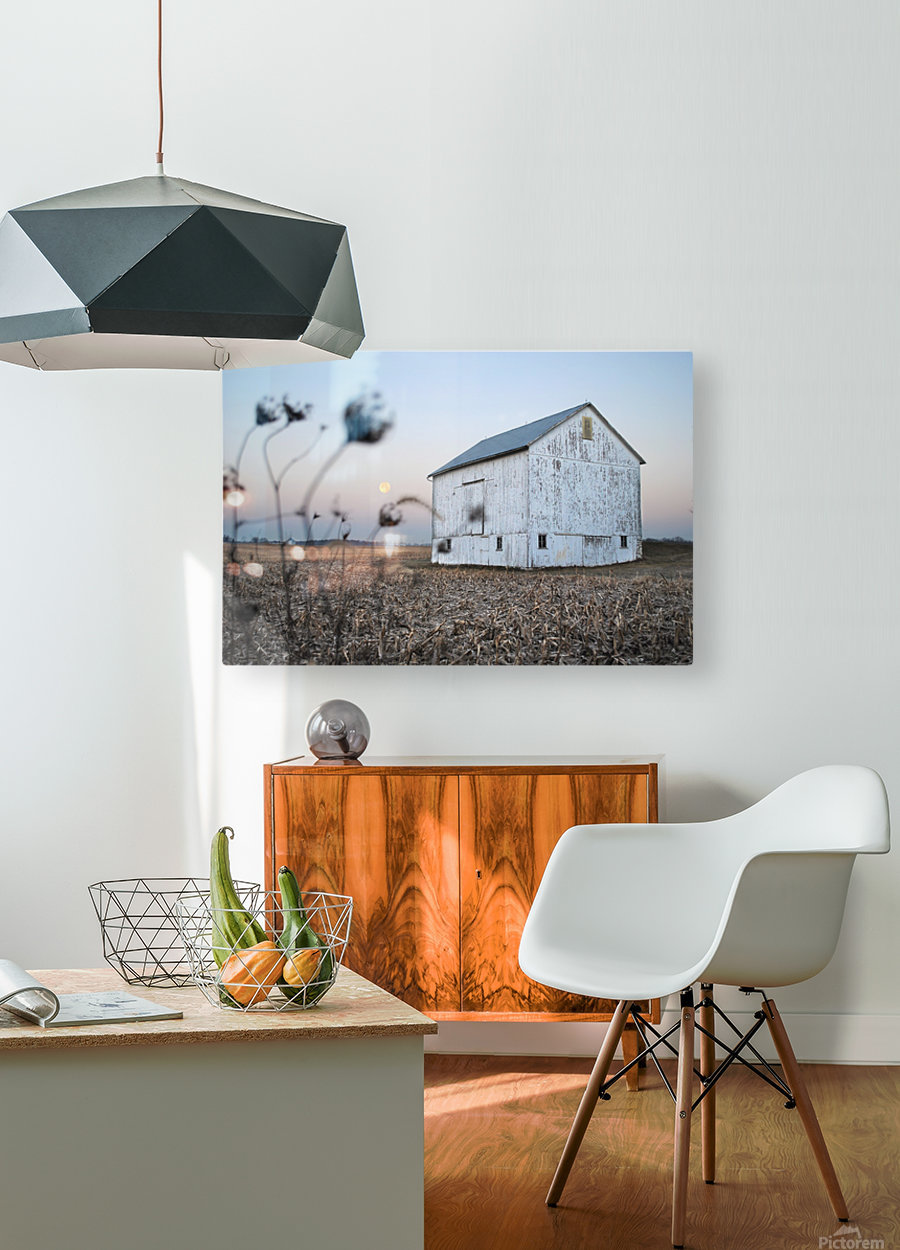 The Old Barn  HD Metal print with Floating Frame on Back