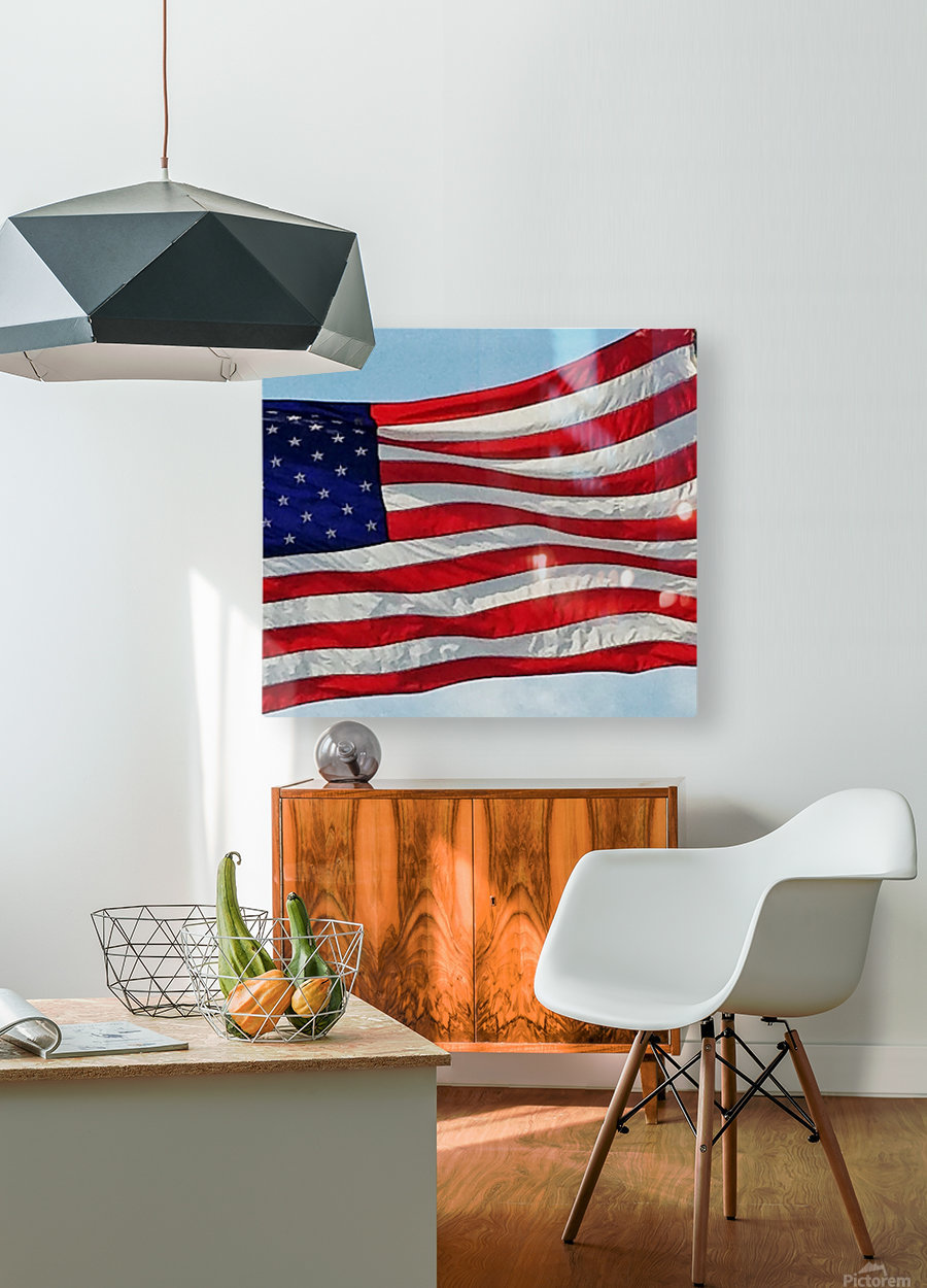 America the Beautiful  HD Metal print with Floating Frame on Back