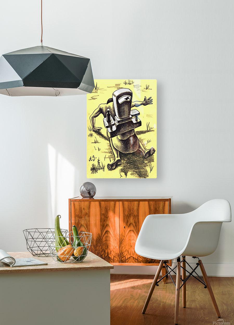hardship  HD Metal print with Floating Frame on Back