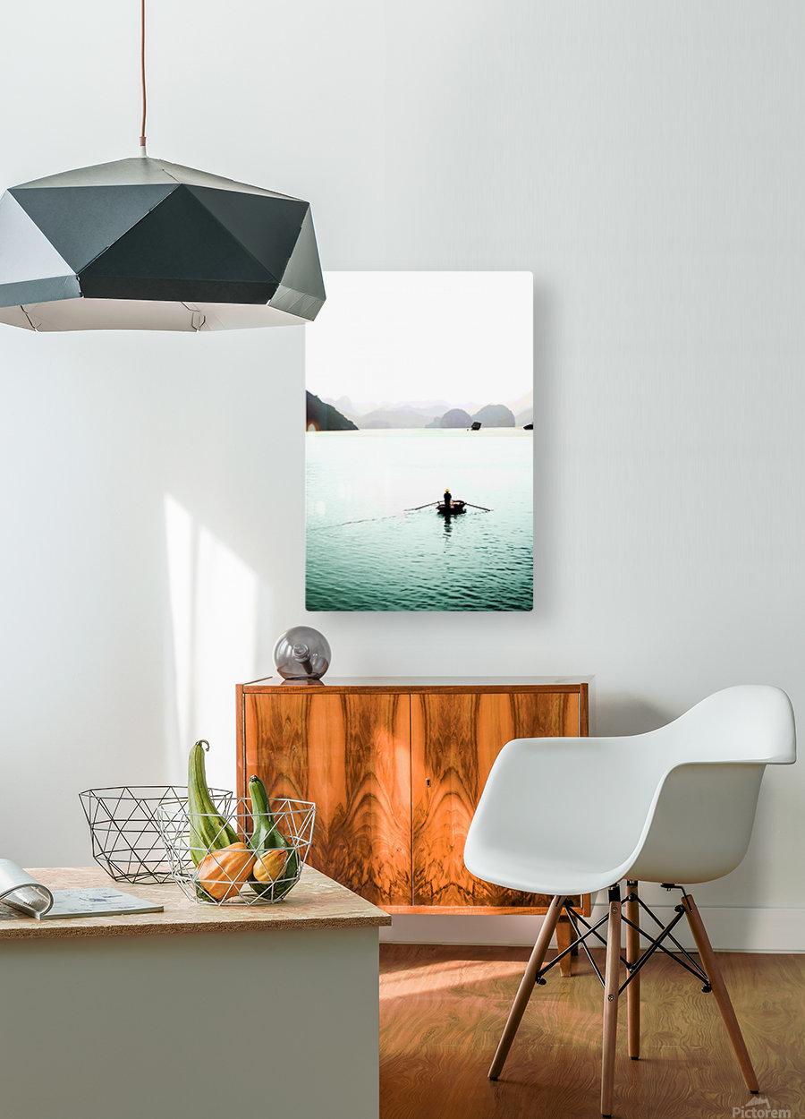 Ha Long Bay Fishing  HD Metal print with Floating Frame on Back