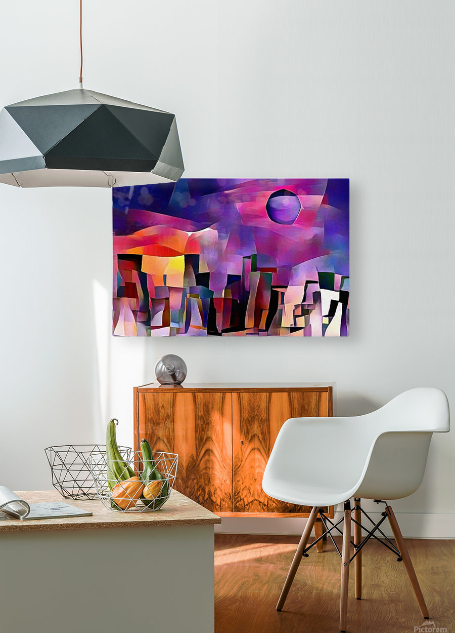 Dream Town  HD Metal print with Floating Frame on Back