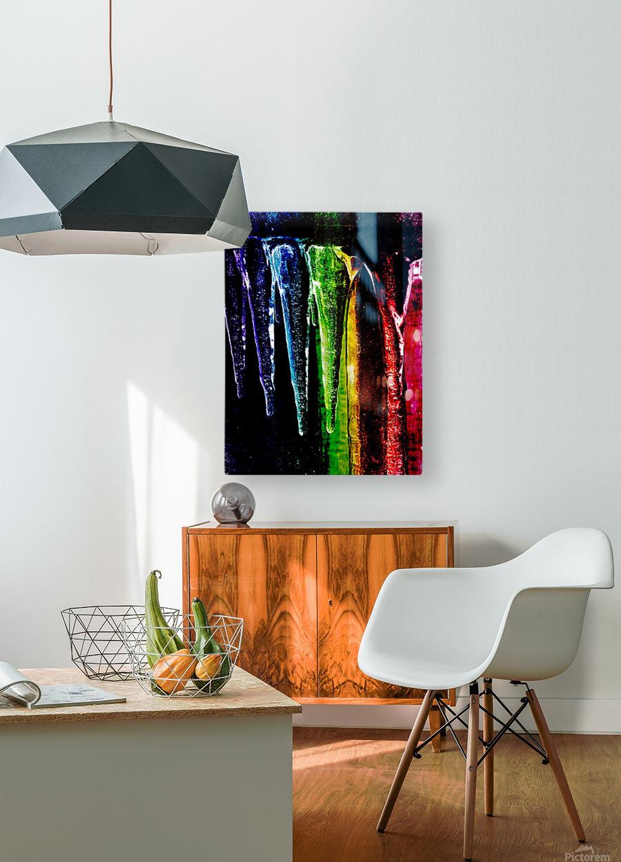 Chakra happy   Impression métal HD avec cadre flottant sur le dos