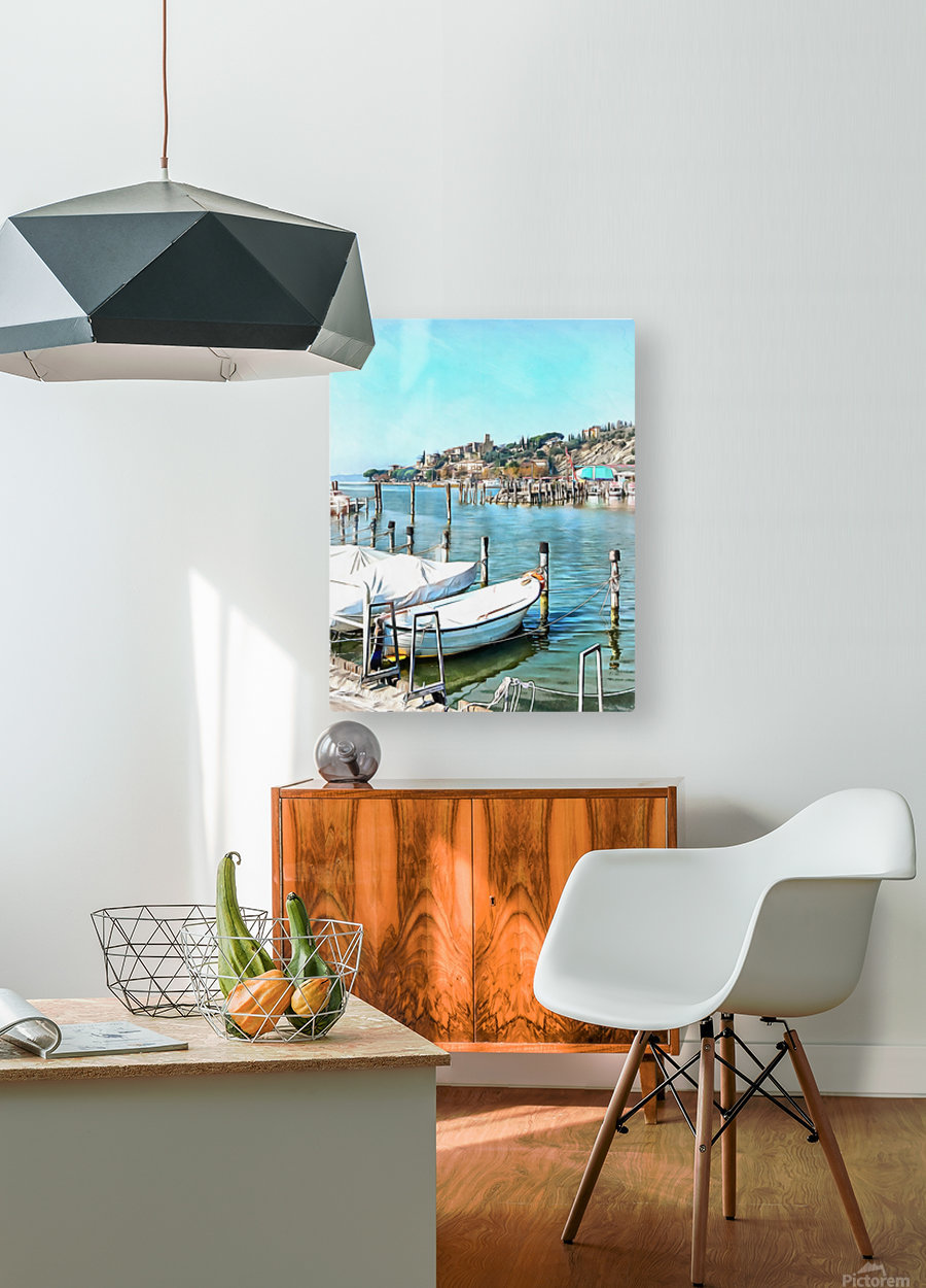 Moored Boats at Passignano  HD Metal print with Floating Frame on Back