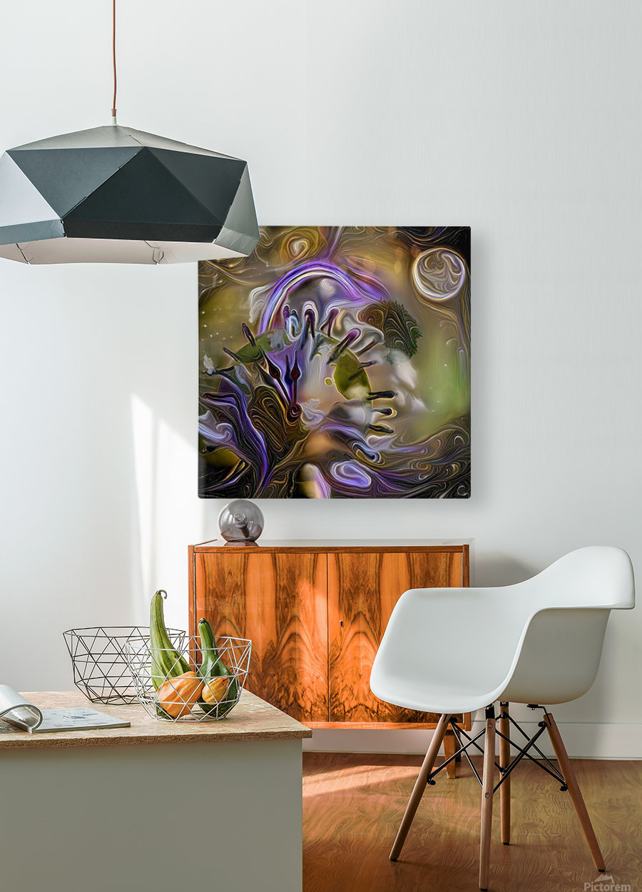 Earth Time  HD Metal print with Floating Frame on Back
