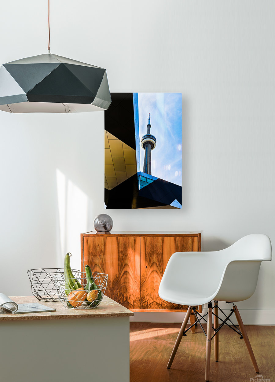 A tower in the sky  HD Metal print with Floating Frame on Back