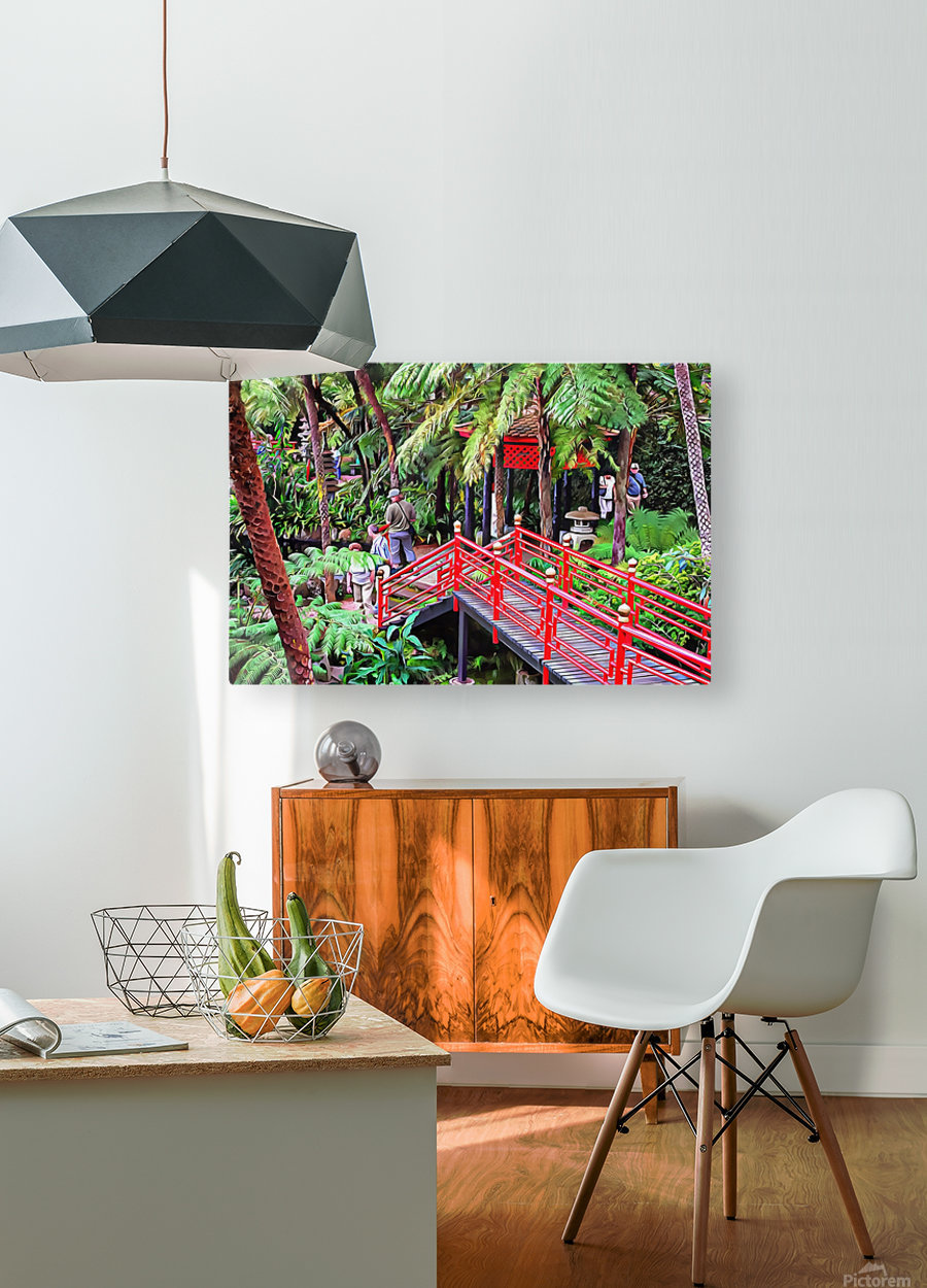 Oriental Gardens Madeira 1  HD Metal print with Floating Frame on Back