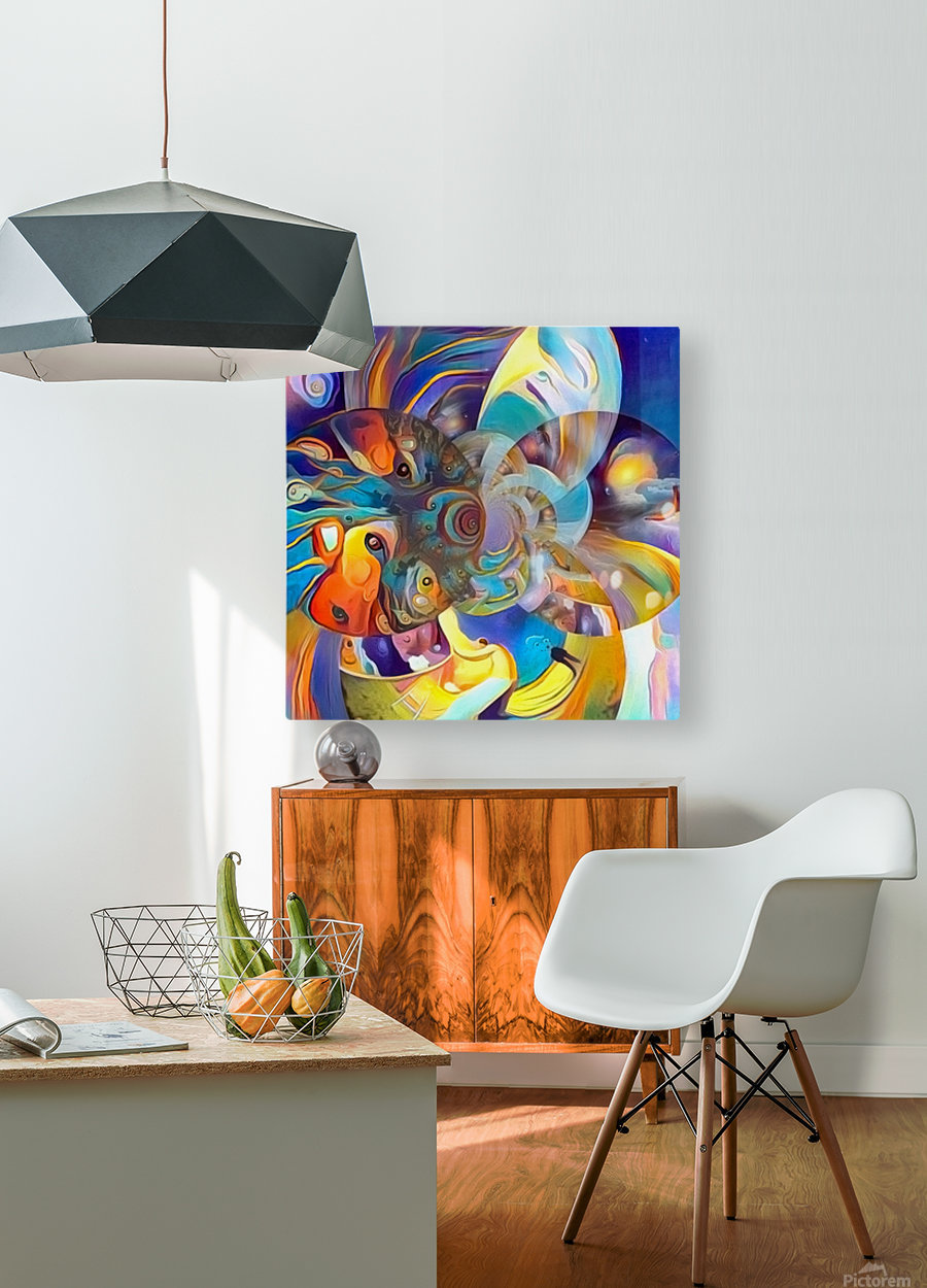 Vivid Illusion  HD Metal print with Floating Frame on Back