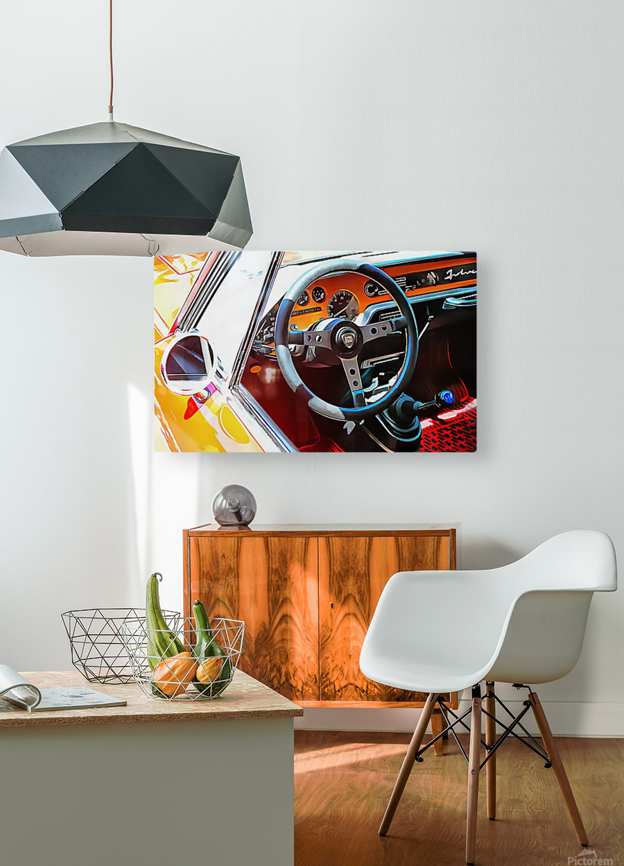 Lancia Fulvia Through The Window  HD Metal print with Floating Frame on Back