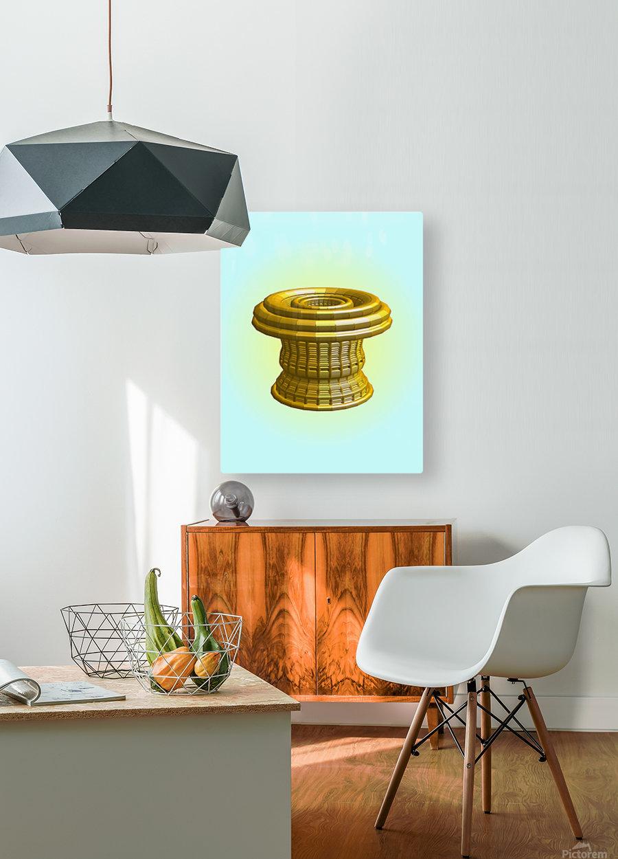 op basket 5.27b1H 18  HD Metal print with Floating Frame on Back