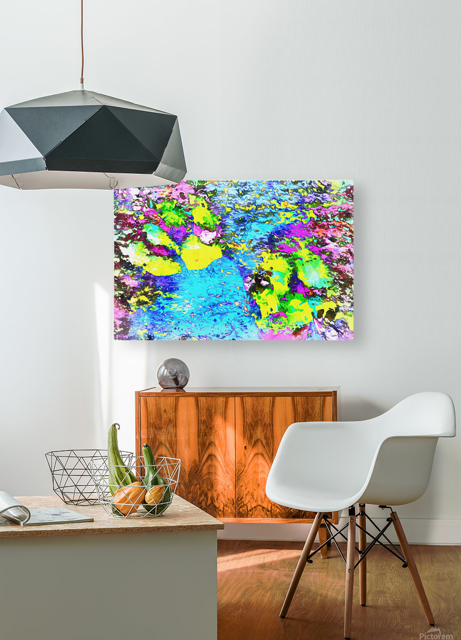 Paw Prints Seaside Paddle  HD Metal print with Floating Frame on Back