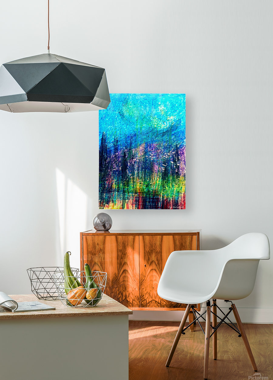 Luminous Night  HD Metal print with Floating Frame on Back