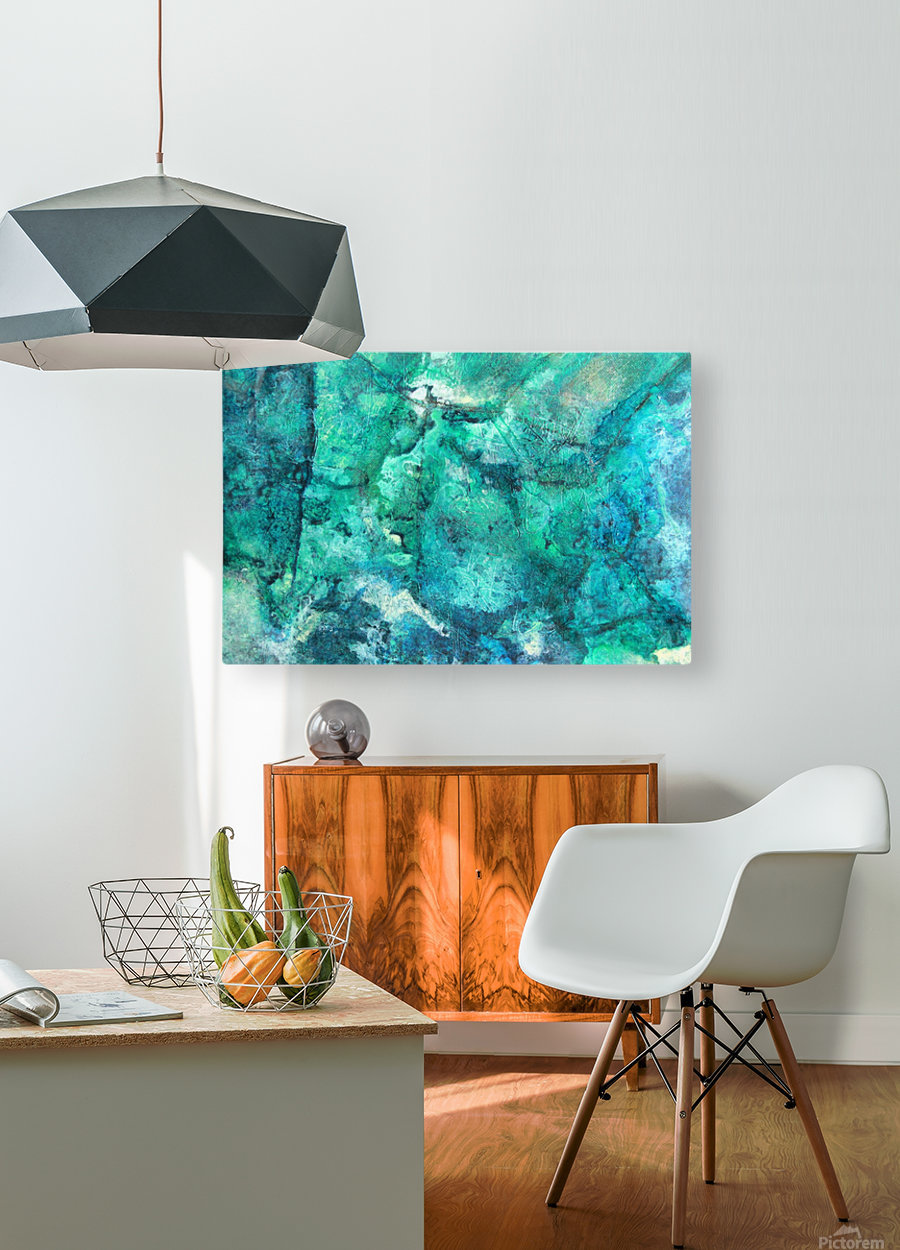 turquoise N°2  HD Metal print with Floating Frame on Back